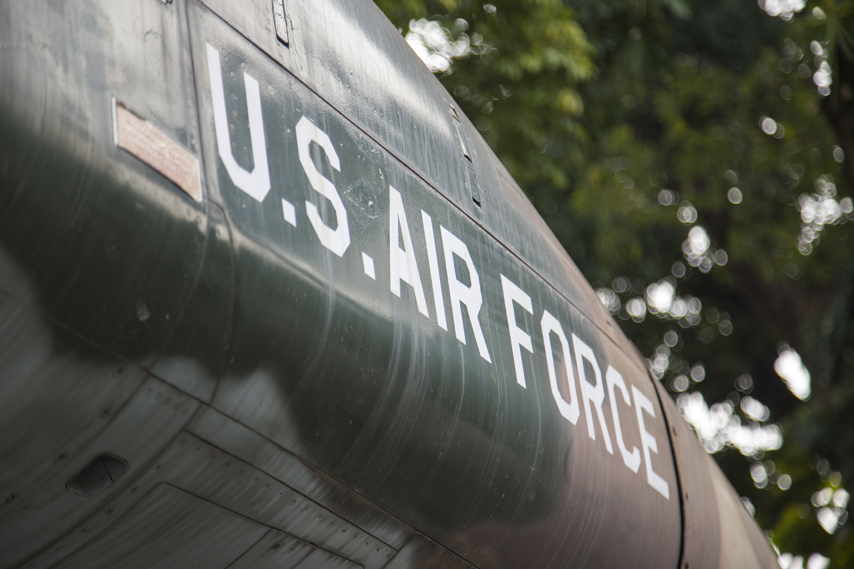 U.S Air Force words on a fighter jet